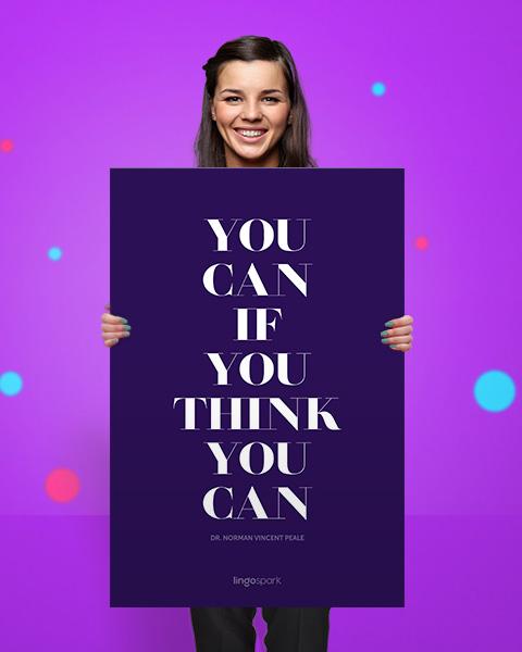 תמונת השראה למשרד - You Can if You Think You Can