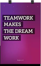 תמונת השראה למשרד - Teamwork makes the dream work