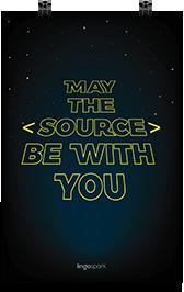 תמונת השראה למשרד - May the source be with you