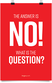 תמונת השראה למשרד - The Answer is No! what is the question