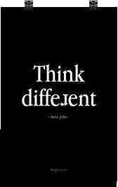 תמונת השראה למשרד - Think Different-Steve Jobs