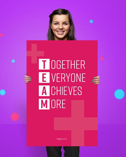 תמונת השראה למשרד - Together Everyone Achieves More