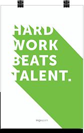 lingospark-hard work beats talent-תמונת השראה ואווירה למשרד
